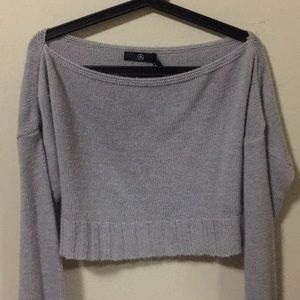 Missguided grey cropped sweater (S)